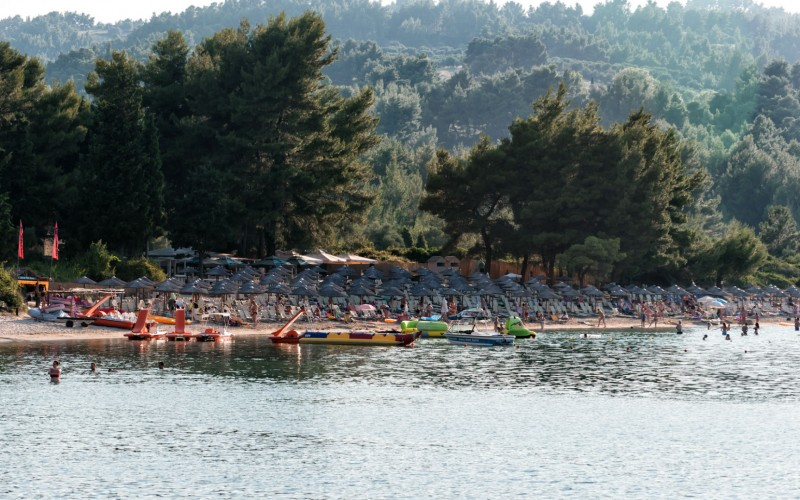 Chrosso Bay toursti beach Chalkidiki - Hellas