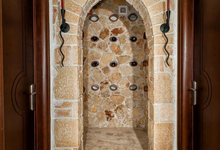 Villa Pefkohori wine cellar