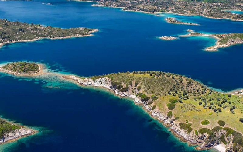 Halkidiki coast-line & islands Greece