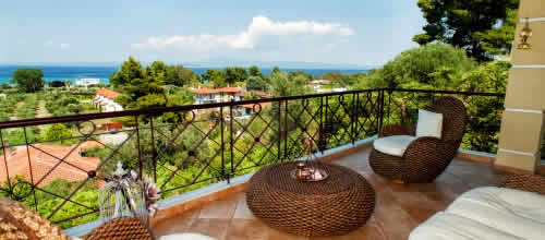 Rent Halkidiki home with sea view