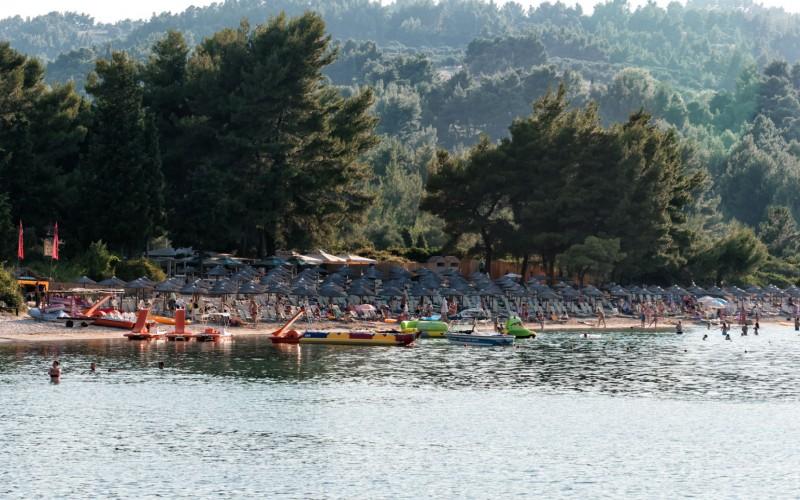 Chrosso Bay toursti beach Chalkidiki - Hellas