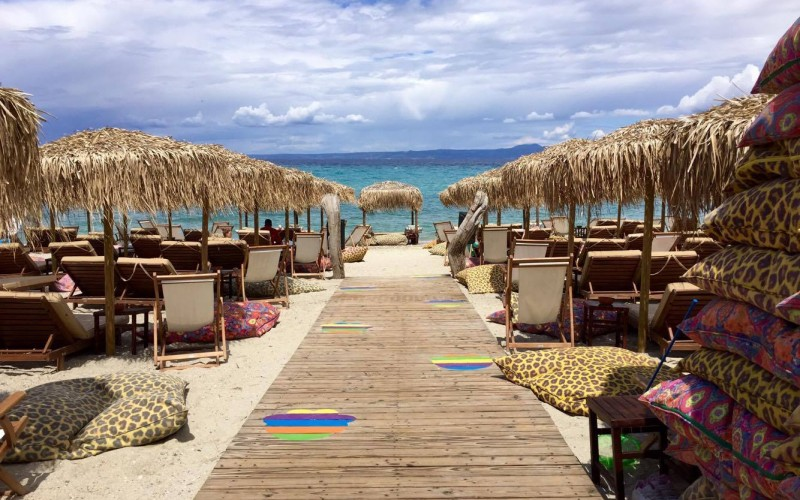 Tropic style beach bar Pefkohori Halkidiki
