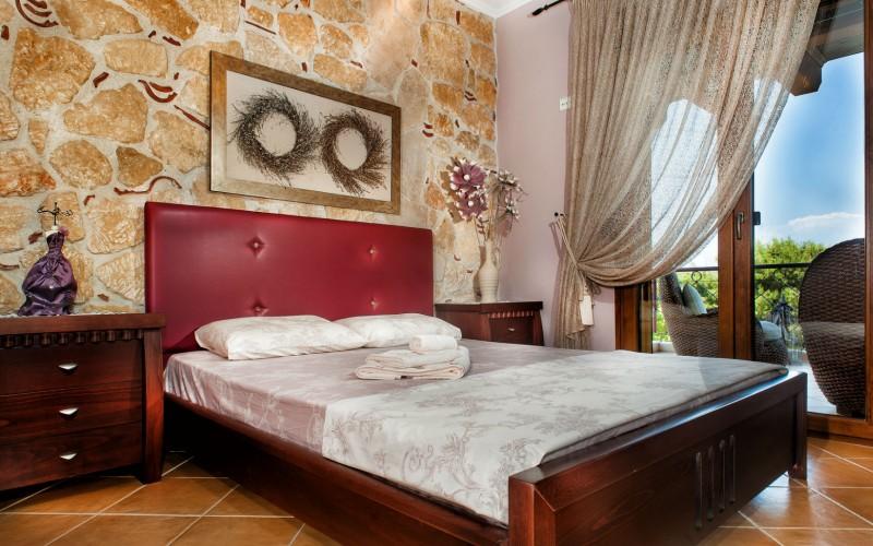 Greek vacation home master bedroom