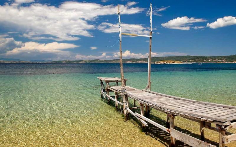 Crystal clear sea Halkidiki Hellas