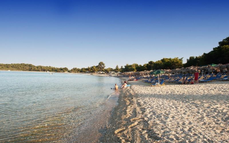 Glarokavos parasols beach Halidiki - Greece