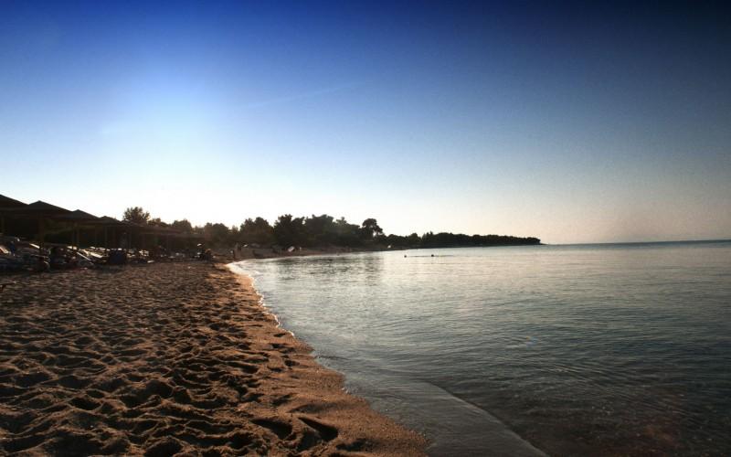 Sunset on beach Chalkidiki - Greece